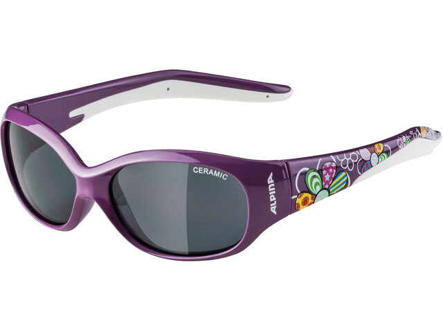 Alpina Flexxy Glasses Kids purple flower